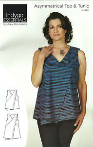 Details about Indygo Essentials Asymmetrical Top & Tunic Pattern XS-3XL by  Amy Barickman DIY
