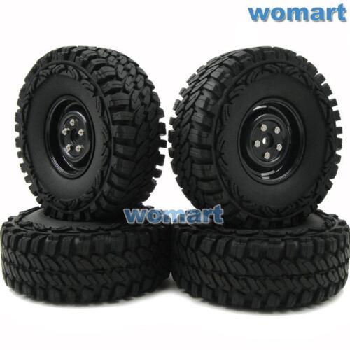 4pcs RC 1//10 115mm Tires /& 1.9/'/' Hex 12mm Wheels For Rock Crawler Truck Upgrade