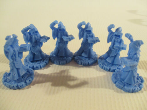 CTHULHU WARS Lot of 6 BLUE CULTIST Miniature Figures NEW!!