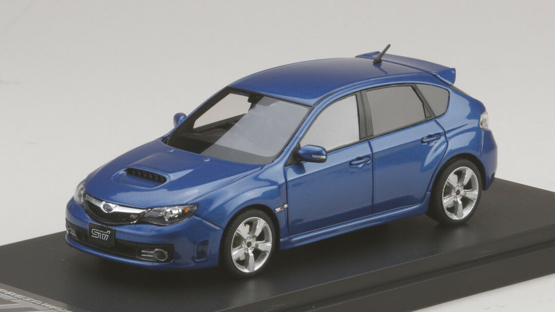 1 43 Mark43 Subaru Impreza WRX STI (GRB) WR bluee bluee bluee Mica PM4370BL a10423