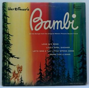 Disney-Bambi-Original-Vinyl-LP-1969-Vintage-Film-Soundtrack-Disneyland-EX