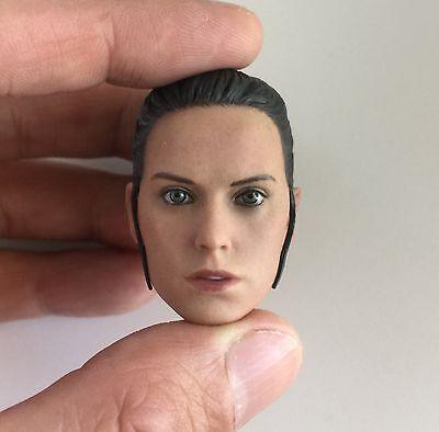 ██ Custom Daisy Ridley 1/6 Head Sculpt for Hot Toys Star Wars Rey Female Body ██