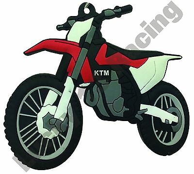 Bike-It Motorcycle Bike Gift Soft Rubber Keyring KTM SXF 16/> KEYR122