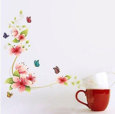 Erstaunliche Dekoration für Küche Schlafzimmer Blumen wandtatoo Aufkleber