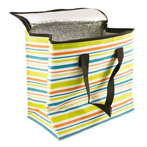 Insulated 13.8L Cooler Bag with Handles - Stripey