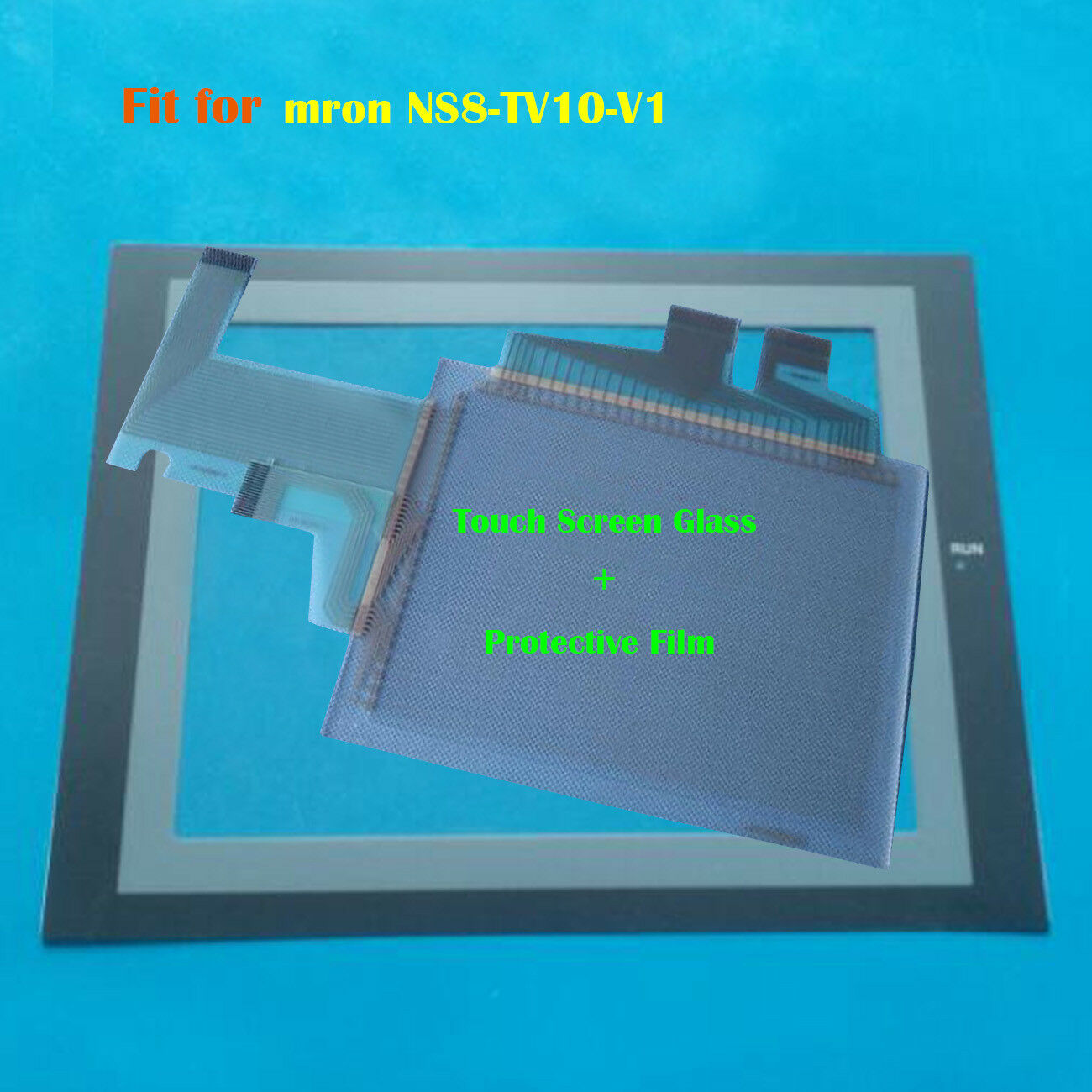 For Omron NS8-TV10-V1, NS8TV10V1 Touch Panel Glass + Predective Film New