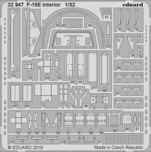 Eduard Accessories 32947-1:32 F-15E interior for Tamiya