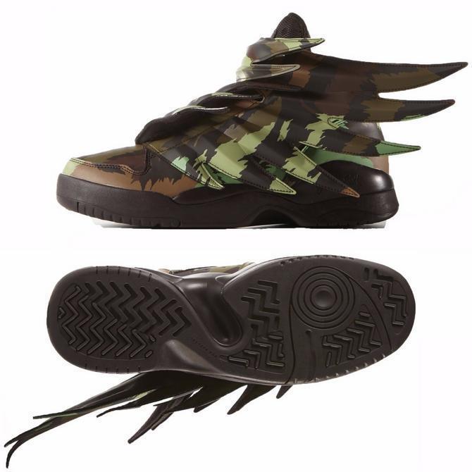 Nuevas Adidas Jeremy Scott JS CAMO Marrón Sauvage para Hombre Alas 3.0 Sauvage Marrón S77804 Zapatillas Zapatos daf95f