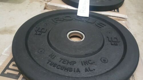 Rogue Fitness 10lb Hi-Temp Bumper Weight Plate *PAIR* FAST SHIPPING *BRAND NEW*