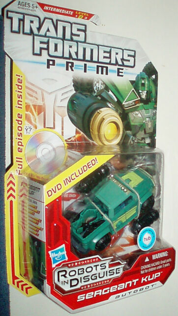 TRANSFORMERS PRIME 2012 ROBOTS IN DISGUISE LEVEL 2 SERGEANT KUP AUTOBOT RARE!