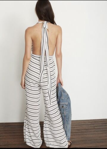 Cannes Amsterdam The White Faithfull Black 4 Brand Print Jumpsuit Women's Stripe ZOzPq