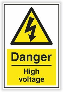 1x Danger High Voltage Sticker Electric Warning Safety For