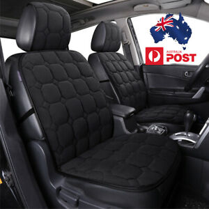 2PCS-Black-Thickened-Plush-Car-Seat-Cover-Front-Backrest-Seat-Cushion-Universal
