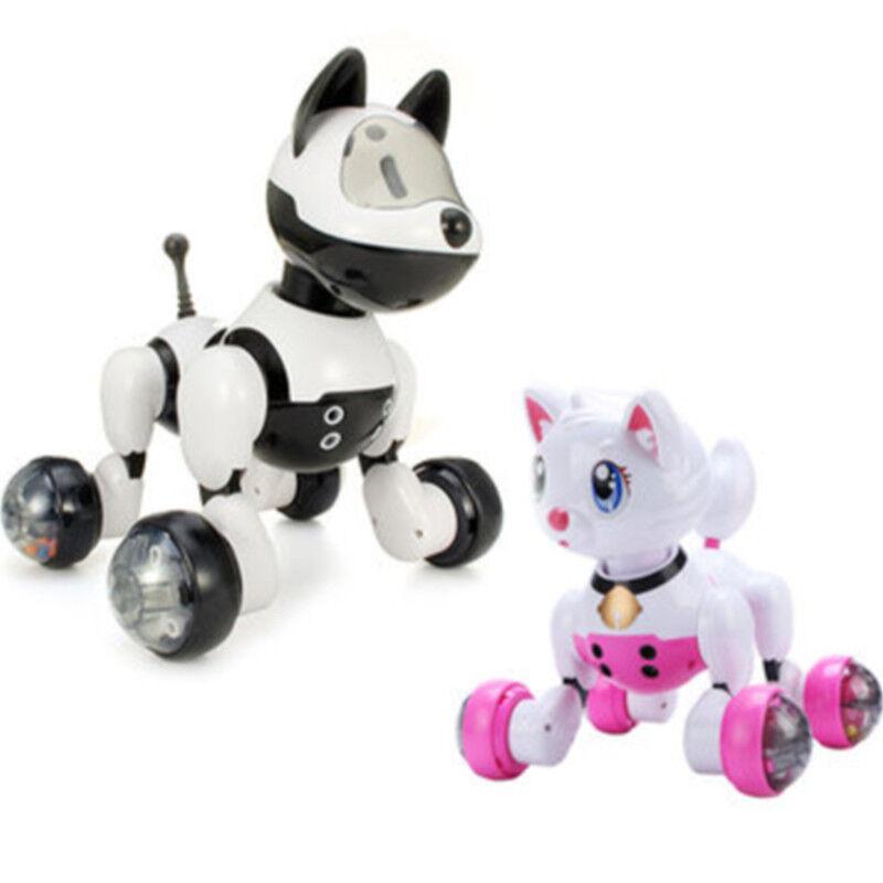 RC Intelligent Robot Smart Voice Control Dog Cat Kids Toys Smart Toys Kid Gift