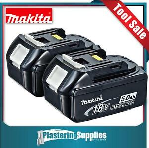 Genuine Makita 5 Amp Batteries 18V LXT Li-Ion 5.0Ah BL1850 Battery x2