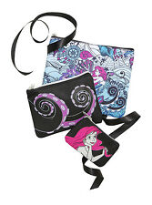 Disney Ariel Ursula Octopus The Little Mermaid 3 Piece Makeup Cosmetic Bag Set