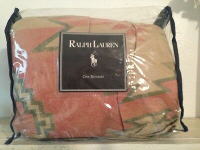 NEW!  Ralph Lauren Canyon Road White Sands Coral~ RARE BEDSKIRT