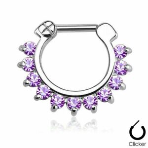 Surgical-Steel-Hinged-Clicker-Septum-Nose-Ring-Hoop-Body-Piercing-Jewelry