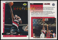 NBA UPPER DECK 1993/94 - Clyde Drexler # 179 Blazers Ita/Eng GLIDING LAYUP MINT