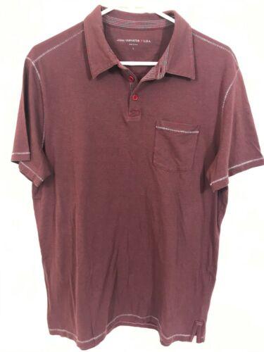 6 Colors Available John Varvatos Star USA Men/'s Short Sleeve Polo Shirt Size L