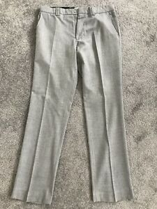 Men's W32 Island uomo River W32 Island da Grey uomo Suit da Pantaloni grigi Trousers da From River xn08qzpw