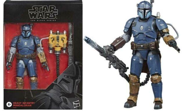 Disney+ STAR WARS Black Heavy Infantry MANDALORIAN 6in Figure IN STOCK