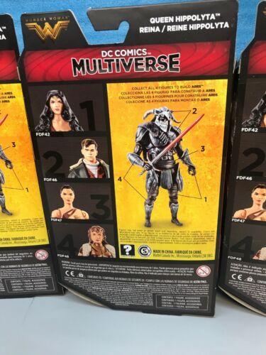 "DC Multiverse Lot Of 5 WONDER WOMAN 6/"" Action Figure BAF ARES Set."