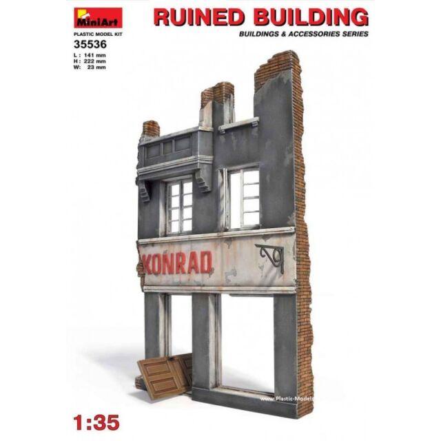 Ruined City Building MIN35519 Miniart 1:35