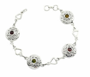 casually-925-Solid-Sterling-Silver-bonnie-genuine-Multi-Bracelet-gift-UK