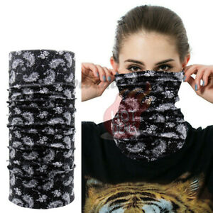 Lot-6-Pack-Men-Women-039-s-Neck-Gaiter-Tube-Bandana-Face-Mask-Biker-Ski-Headwrap