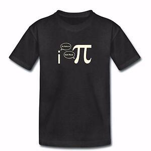 Niños Gracioso Camiseta de ciencia-ser racional-matemáticas PI pie Sheldon Cooper Big Bang  </span>