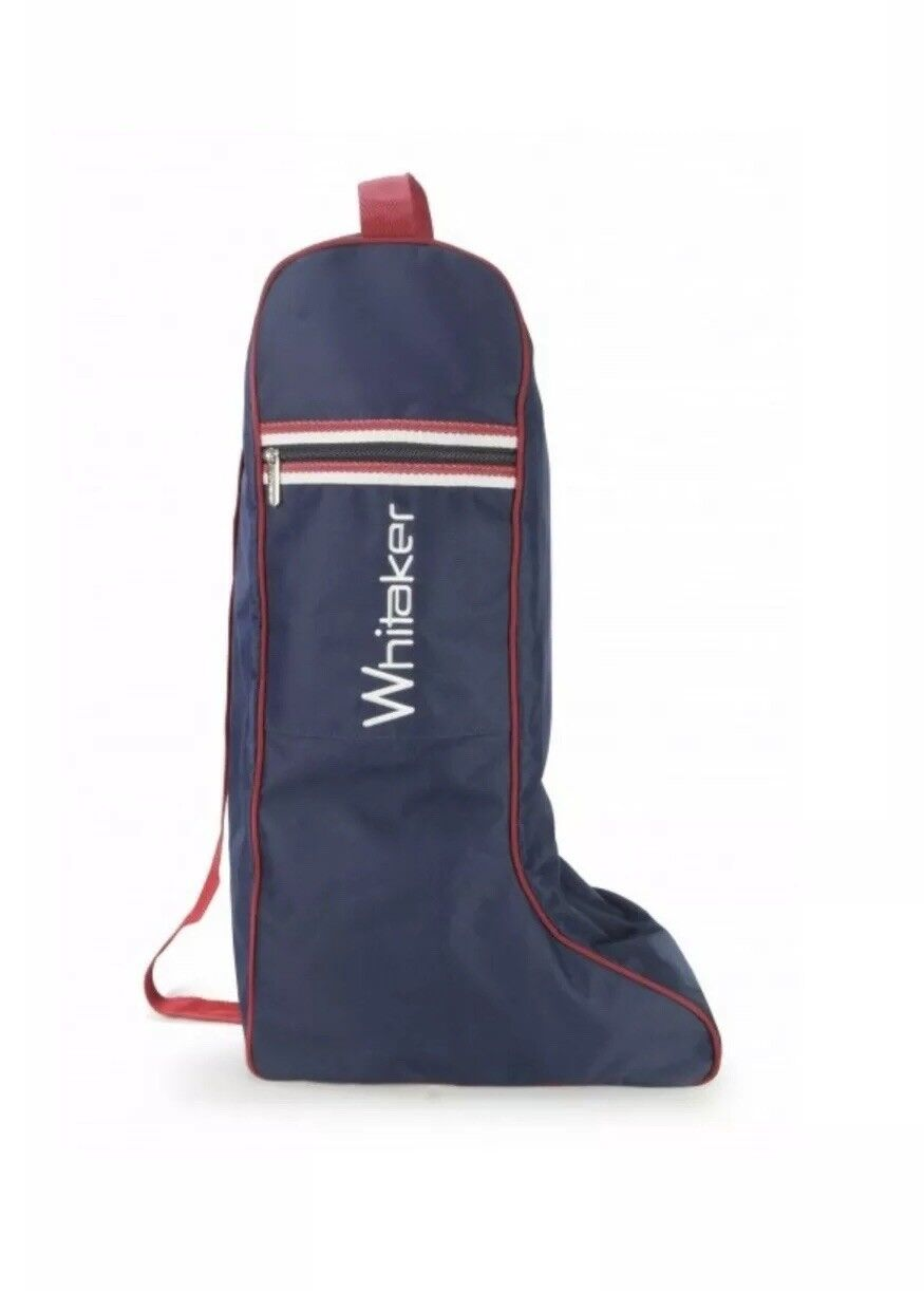 Riding Stiefel Tasche, WHITAGER KETTEWELL, Blau MIT rot Weiß, FREIE UK Postage