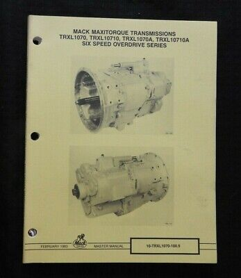"""Advertising Mack Truck """"trxl1070 Trxl1070a Trxl1070a Trxl10701a Transmissions Service Manual Other Collectible Ads"""
