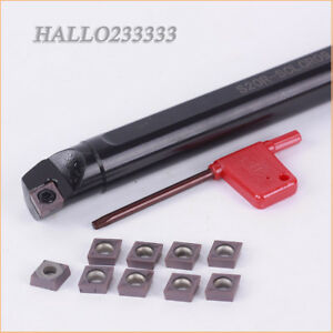 S20R-SCLCR09 CCMT09T304 VP15TF ×10pcs Internal Lathe Boring Bar Turning Tool