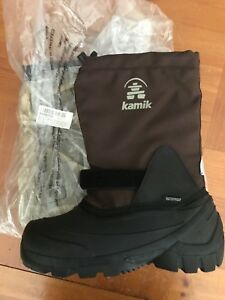 NWT Kamik Snoday Insulated Winter Boot Toddler/Little Kid/Big Kid Brown, 2M NEW