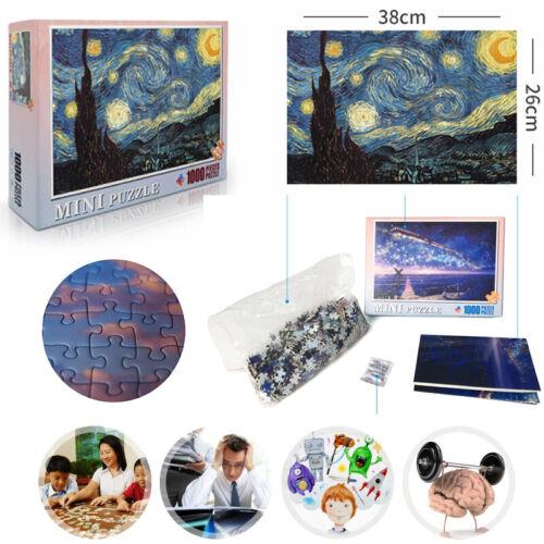 1000 Pieces Children Adult//Kids Puzzles Educational Toy Decoration Jigsaw Puzzle