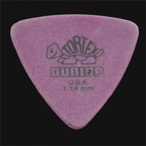 6 10 12 20 24 36 Dunlop Tortex Triangle Guitar Picks Plectrums 1.14mm Purple
