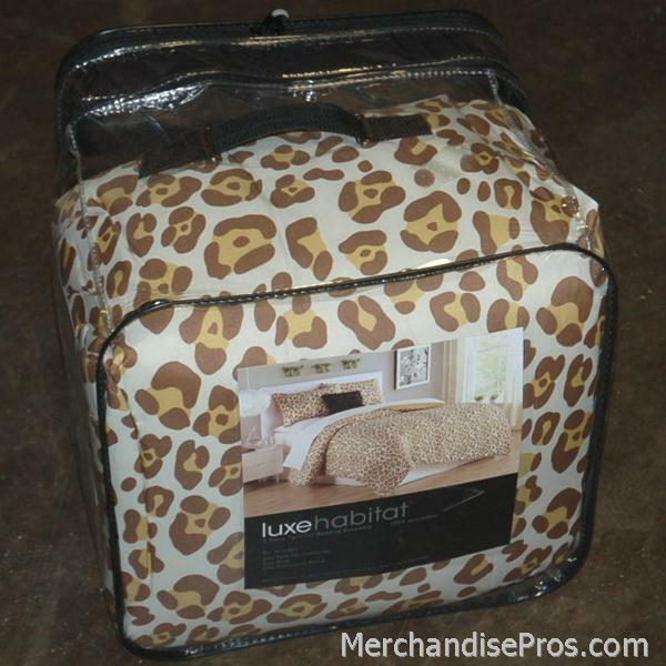 3 PC  LUXE HABITAT COMFORTER BEDDING ENSEMBLE SET TWIN XL  NEW