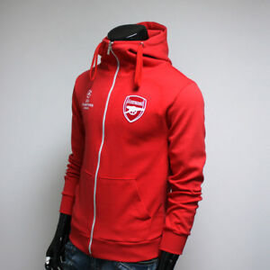 new products 6bb3f 91cfd Arsenal FC Hoodie Full Zip Turtleneck Hoody Soccer Team ...