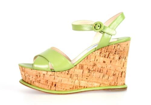 40 40 New Plateau 5 1xz265 Sandalen Schuhe Saffiano Gruen Neu Prada Luxus 7 Uk g6f7Ybvy