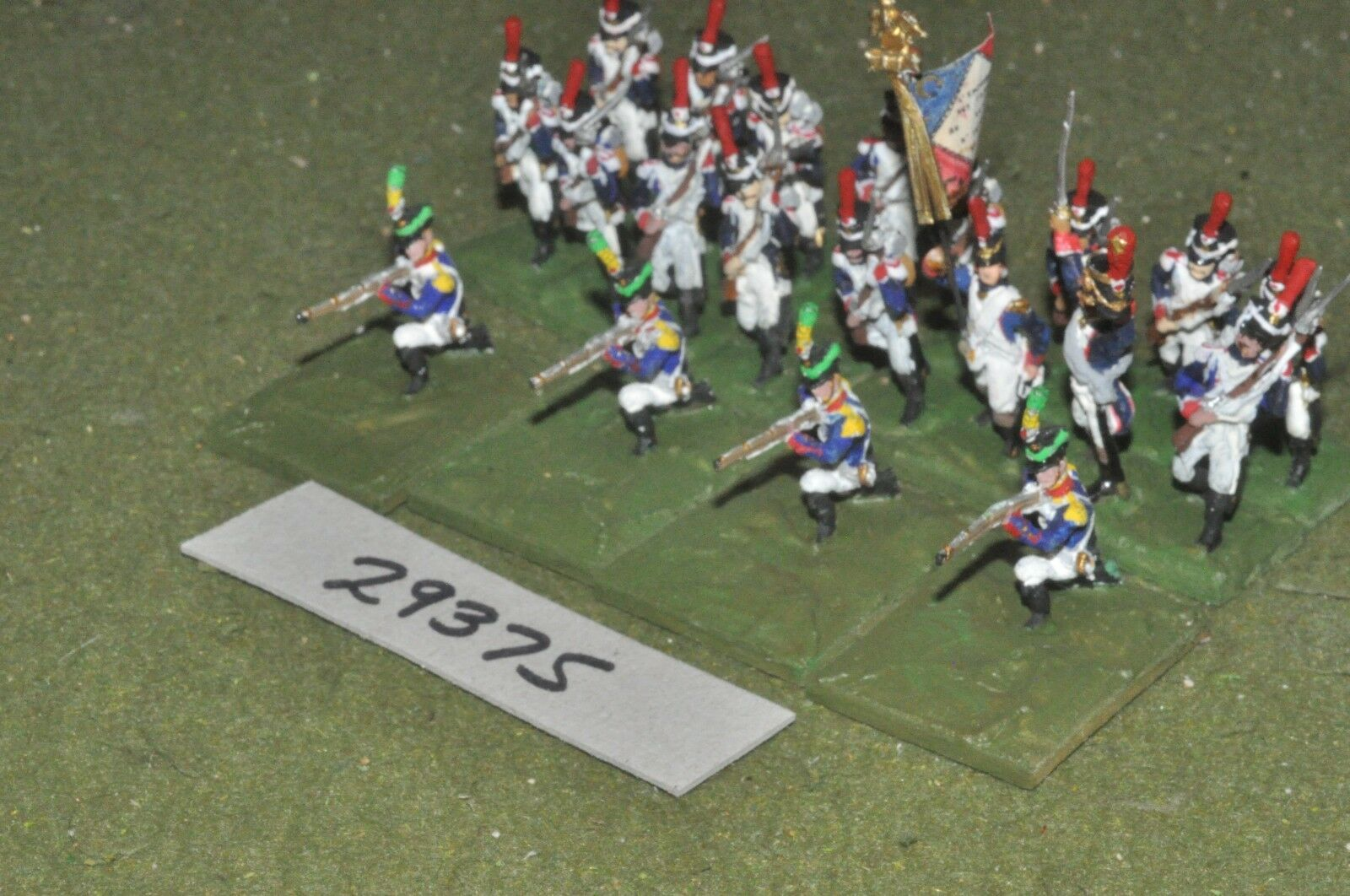 25mm napoleonic   french - regt 20 figures - inf (29375)
