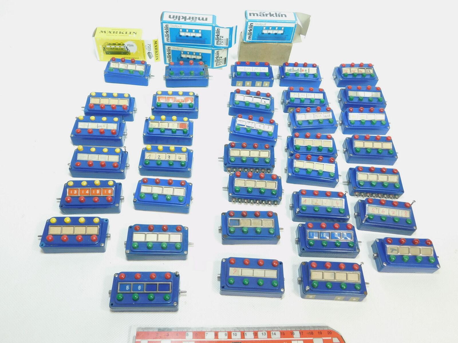 BK232-2x Märklin H0 AC Bastler-Stellpult  7072 + 476 4 + 7211 + 7210