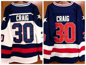 Jim-Craig-30-1980-USA-Olympic-Hockey-Miracle-On-Ice-USA-Men-039-s-Hockey-Jersey