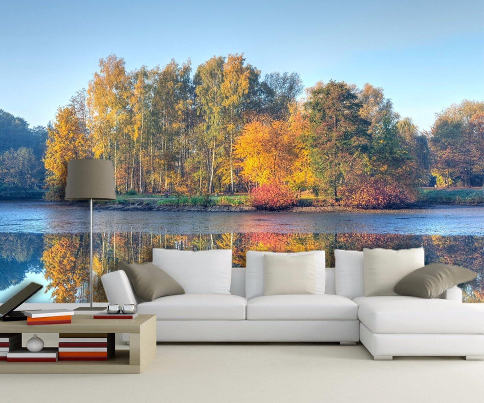 3D bluee Sky Forest Lake 944 Wallpaper Mural Paper Wall Print Wallpaper Murals UK