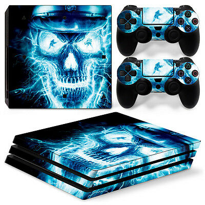 Blue Skull 2 High Quality Loyal Sony Ps4 Playstation 4 Pro Skin Sticker Screen Protector Set Video Game Accessories Video Games & Consoles