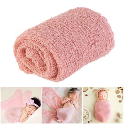 Decor Toddler Photography Prop Weave Knitted Mohair Wrap Infant Rainbow Blanket