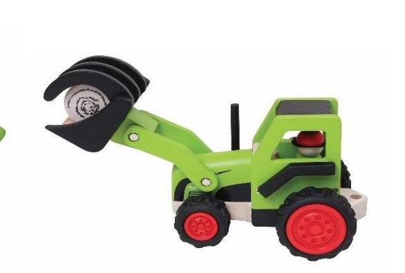 Traktor mit Ladeschaufel Holztaktor  Njoykids 14102
