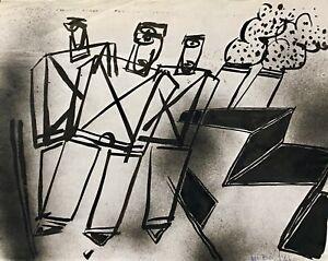 Alain-Michel-Boucher-Pittura-Originale-Guazzo-Fabbrica-2