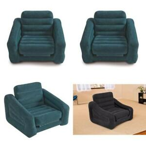 Image Is Loading Portable Pull Out Chair Inflatable Bed Relaxing Sofa