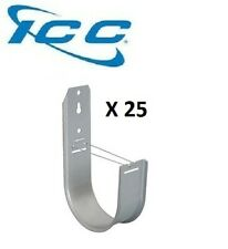 """ICC 25 Pack 4/"""" J-Hook Wall Ceiling Mount Route Cable 90 Degree Lip ICCMSJH955"""